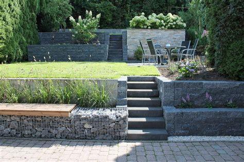 Bildergebnis Für Gartengestaltung Hanglage Gabionen