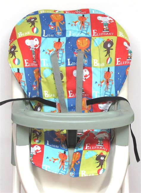 high chair cover graco pad replacement circus blocks