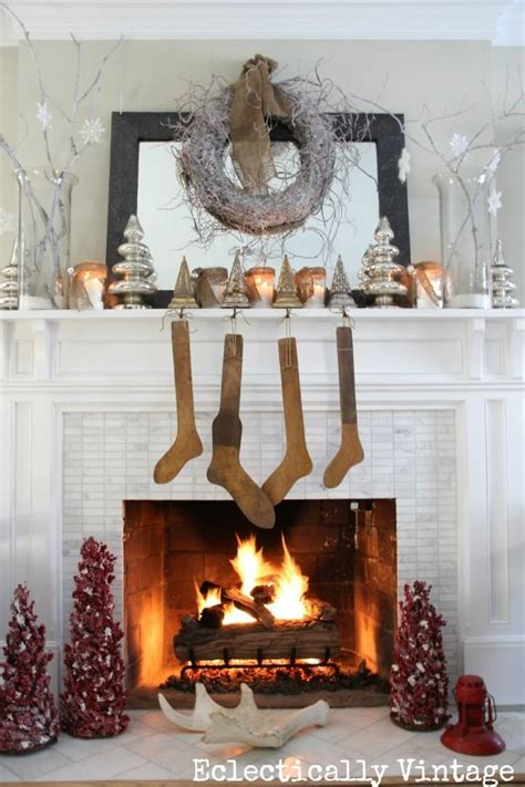 top  rustic christmas fireplace mantel decors easy