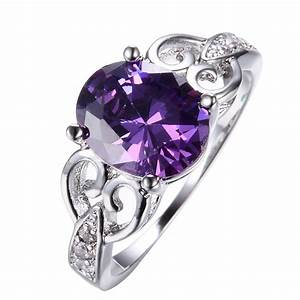 size6 11 oval cut purple amethyst wedding engagement ring With purple wedding ring