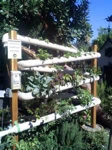 Vertical PVC Hydroponic Garden
