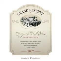 weinetiketten design wine label vector free