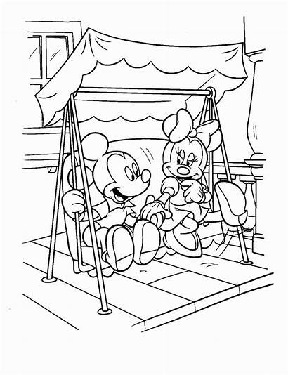 Minnie Mouse Coloring Halloween Pages Mickey Printable
