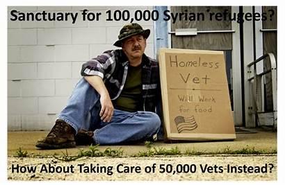 Homeless Vets Refugees Meme Veterans Treat Syrian
