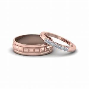 simple diamond matching weddings anniversary ring for With matching wedding rings for husband and wife
