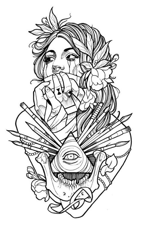 tattoo flash coloring book coloring pages
