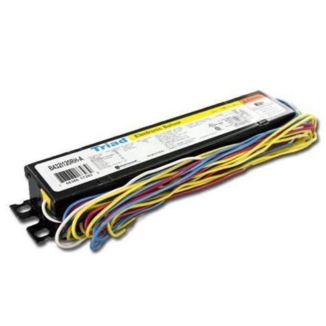 4 l t8 ballast wattage universal b432i120rh a000i triad electronic fluorescent