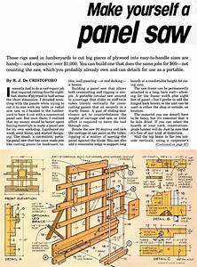 Homemade Vertical Panel Saw Plans - Homemade Ftempo