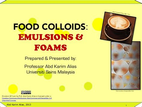 cuisine emulsion introduction to food emulsions and foams