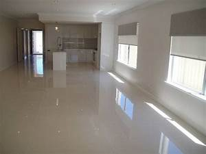 Polished Grey Porcelain Floor; like the combo of this