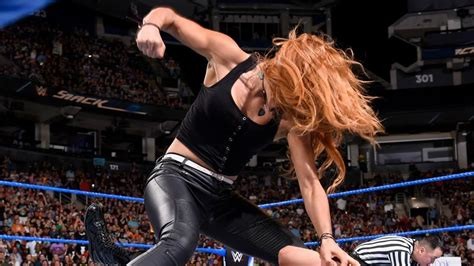 smackdown  results august  becky lynch attacks