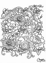 Coloring Adult Flower Pages Adults Drawing Flowers Printable Vegetation Colouring Drawings Patterns Books Fleurs Nature Coloriage Et Colour Pretty Plant sketch template