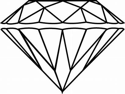 Diamond Drawing Clipart Cool Draw Outline 3d