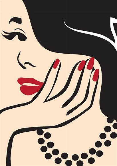 Vector Nail Manicure Elegant Minimal Illustration Studio