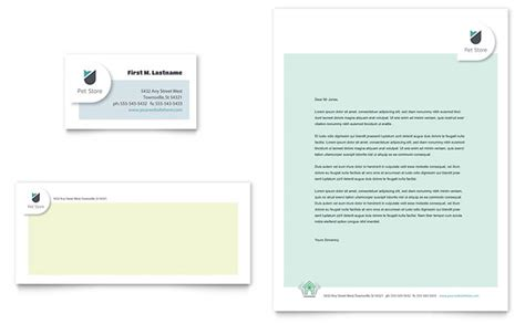 pet store business card letterhead template word