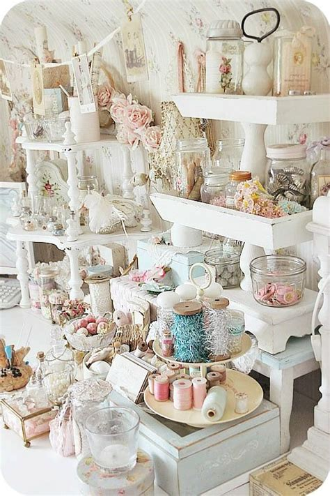 shabby chic organization ideas craft room inspiration shabby chic shelving craft room ideas pinterest shabby chic and