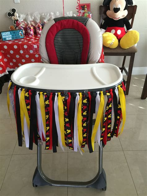 Mickey Mouse High Chair Decorations - mickey mouse 1st birthday mickey mouse 1st