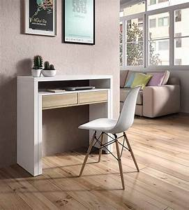 Bureau Console Extensible : bureau console alicia blanc hetre ~ Teatrodelosmanantiales.com Idées de Décoration
