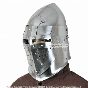 Battle Ready 16G Medieval Knight Pig Face 14th Century ...