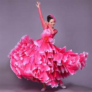 360 degree spanish bullfight belly dance dress skirt long With robe espagnol