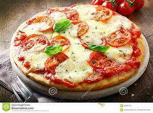 Italian Pizza With Melted Cheese Stock Image Image of