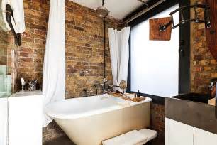 renovated bathroom ideas exposed brick walls meet sustainable modern design in