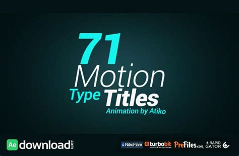 videohive motion type title animations