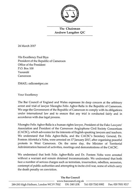 open letter example how to address a letter to your excellency kadakawa org 23851 | 170324 open letter to his excellency paul biya Page 1