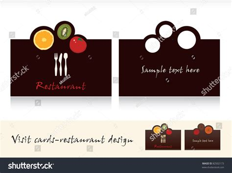Visit Card Design-business Card For Restaurant Vector Leather Business Card Holder Pattern Silver Engraved Cell Phone Icon Vector Download Information Clear Plastic Custom Gift Metal Case