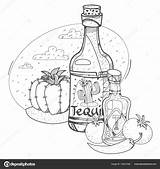 Drawing Tomato Tequila Ketchup Getdrawings sketch template