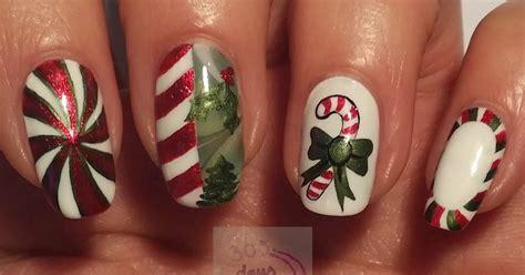 Day 339) Candy Stripe Nail Art