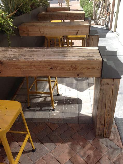 beer garden  love  repurposed    wood