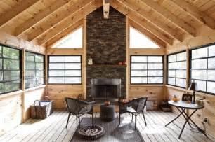wrap around porch floor plans screened porch rustic sunroom toronto by kawartha