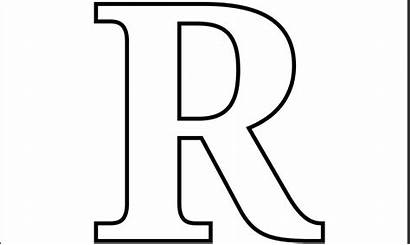 Printable Letter Coloring Pages Letters Single Numbers