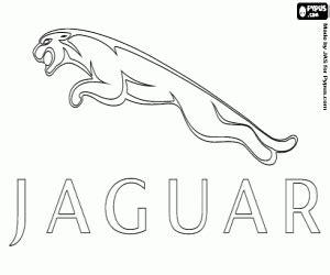 logo jaguar para colorear pintar e imprimir