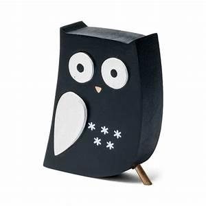 Deco Noir Et Blanc : hibou d co en bois noir et blanc ~ Melissatoandfro.com Idées de Décoration