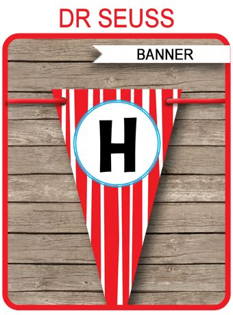 dr seuss party banner template birthday banner