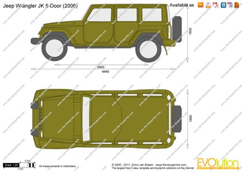 4 door jeep drawing jeep wrangler jk 5 door vector drawing