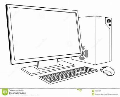 Computer Pc Desktop Monitor Keyboard Workstation Komputer