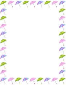 Umbrella Border Clip Art