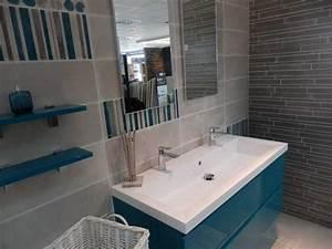 salle de bain turquoise et marron With carrelage bleu turquoise salle de bain