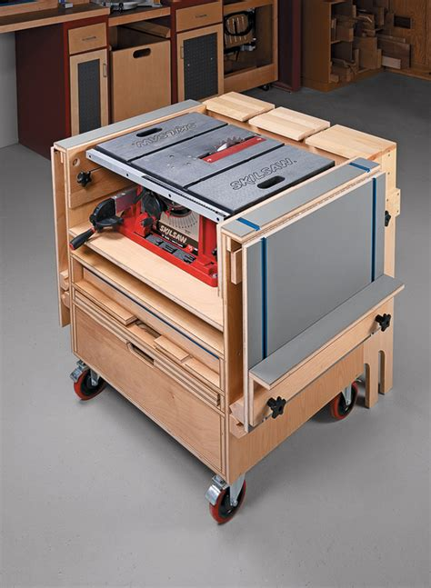 table  workstation woodworking project woodsmith plans