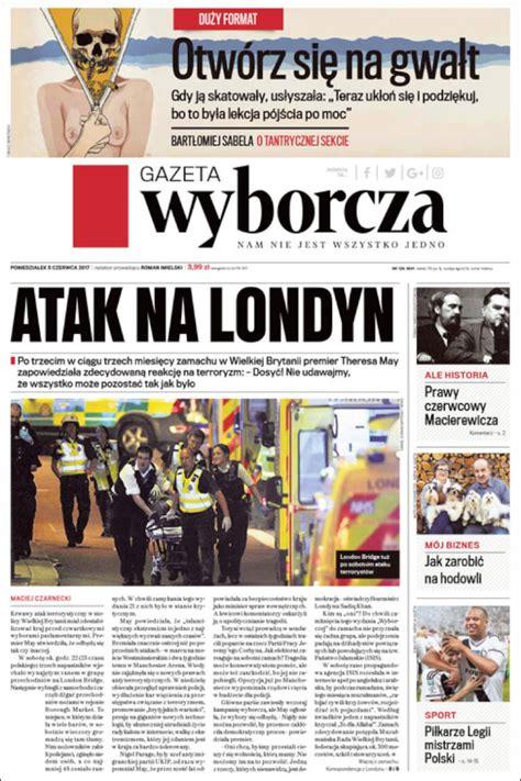 Journal Gazeta Wyborcza (Pologne). Les Unes des journaux ...