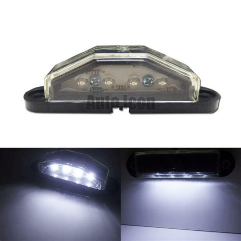License Plate Light by One Hid White 4 Led License Plate Light L For