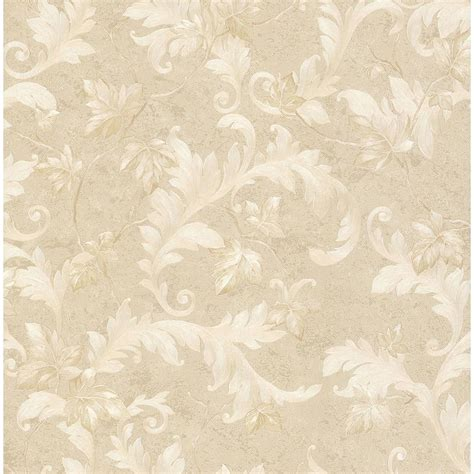 Living Room Furniture Covers by Brewster Dimitri Beige Scroll Wallpaper 2704 63702 The