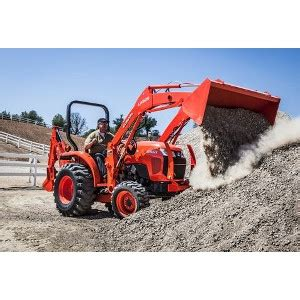compact tractor  front  loader backhoe attachment