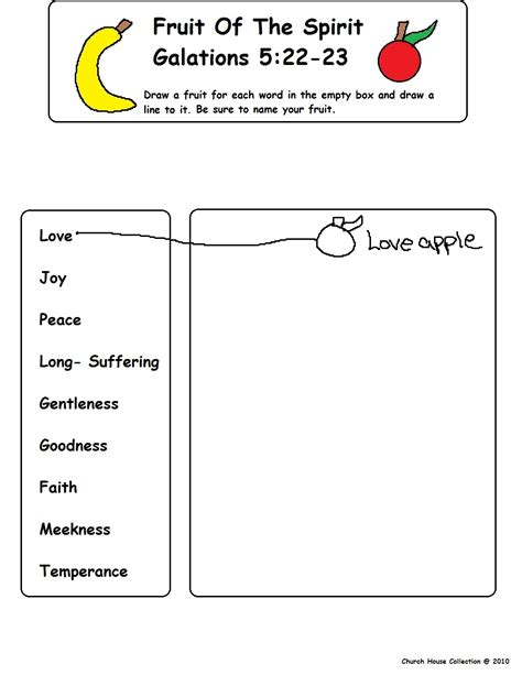 fruit of the spirit goodness coloring pages