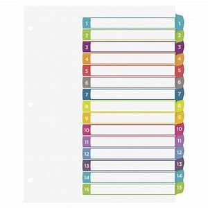 avery ready index table of contents dividers 15 tabs With avery 15 tab dividers