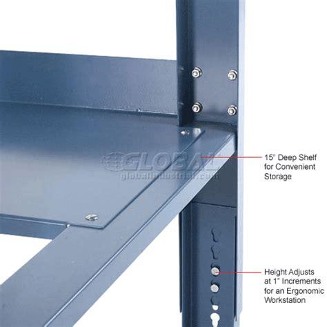 open leg work bench adjustable height global