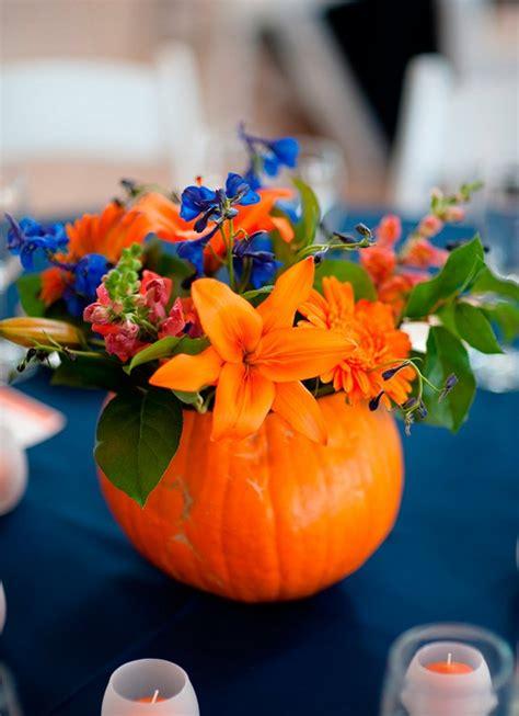 cheerful fall orange wedding ideas deer pearl flowers